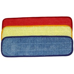18 inch Wet Mop Pad - Rectangular - Piped - Velcro® Style