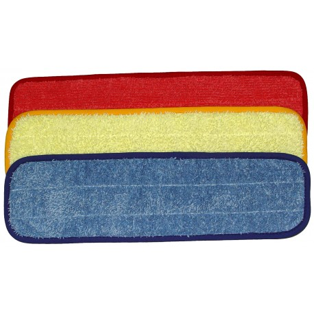 18in Wet Mop Pad - Rectangular - Piped - Velcro