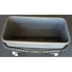 Plastic Bucket - Bottom Sieve - Wheels