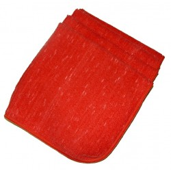 1 Case(200) 16x16 Fluffy Terry Cloth, No-bleed Red, Chip Dyed
