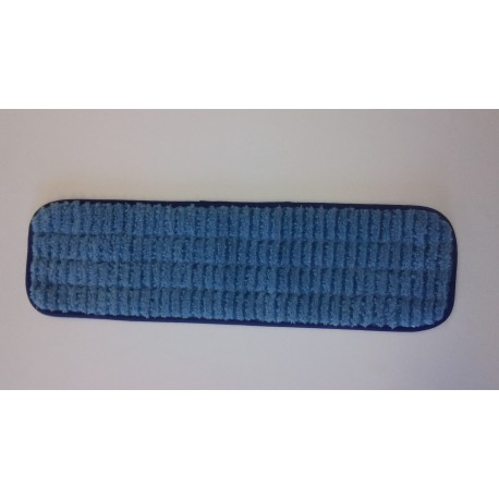 18 inch Scrubber Pad - Blue - Rectangular - Piped - Hook and Loop Fastener 18""