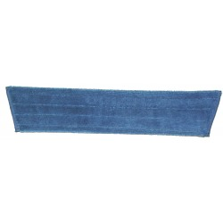24 inch Wet Mop Pad - Blue - Trapezoid - Fold Over - Hook and Loop Fastener 24""