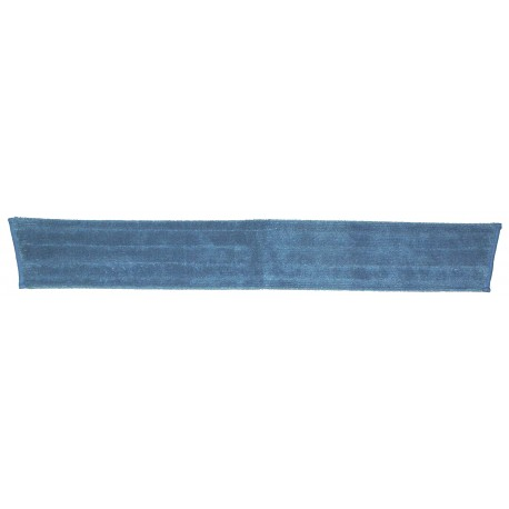 36 inch Wet Mop Pad - Blue - Trapezoid - Fold Over - Velcro 36""