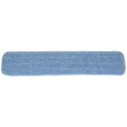 26 inch Wet Mop Pad - Blue - Rectangular - Stitched -Hook and Loop Fastener 26""