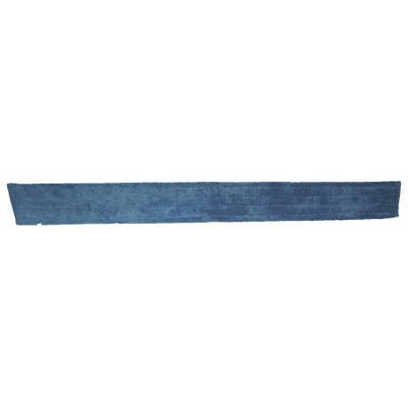 48 inch  Wet Mop Pad - Blue - Trapezoid - Fold Over - Hook and Loop Fastener 48""