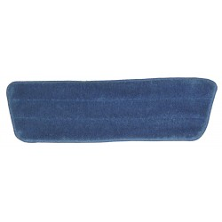 17 inch Dry Mop Pad - Blue - Trapezoid - Stitched Edges
