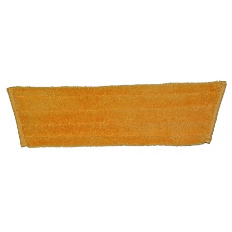 Dry Mop Pad - Orange - Trapezoid - Foldover - Hook and Loop Fastener