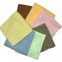 12x12 inch Cloths, Fluffy Terry, Assorted Colors
