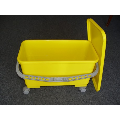 Plastic Bucket, - Wheels - No Sieve
