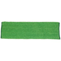 18 inch Wet Pad - Green - Rectangular - Piped Ends - Hook and Loop Fastener