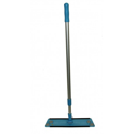 "16 inch Plastic Mop Frame and Alum. Handle - Extends 35 - 60"" - Acme Threads"