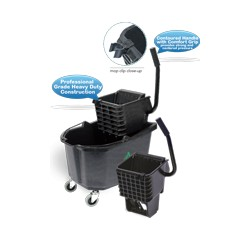 26 Qt Side Press Wringer Bucket Combo