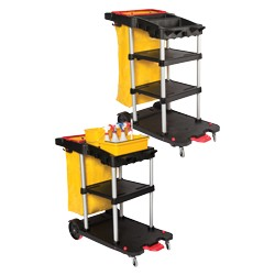 3 Shelf Janitor Auto Cart**Does NOT qualify for Free or $5 Shipping