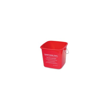 6-QT Cleaning Small Utility 'Sanitize' Pail
