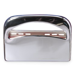Half Toilet Seat Cover - Chrome Metal