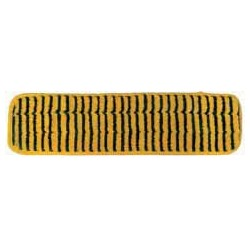 24in Grout Cleaning Pad - Gold/Black - Piped - Hook and Loop Fastener