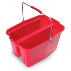 Large Double Utility Pail, 19-QT Bucket, Red