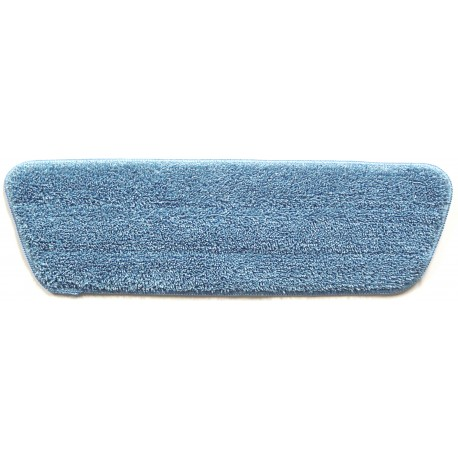 17in Wet Mop Pad - Blue - Trapezoid - Stitched Edges