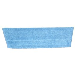 18in Wet Mop Pad - Blue - Trapezoid - Fold Over - Hook and Loop Fastener