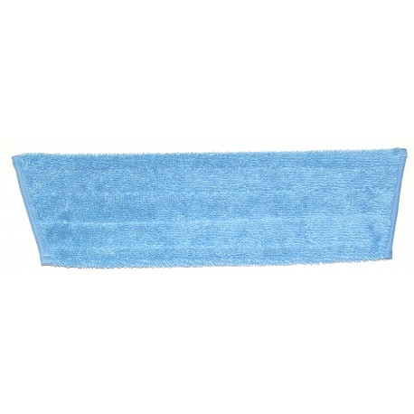 18in Wet Mop Pad - Blue - Trapezoid - Fold Over - Velcro