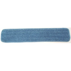 20in Wet Mop Pad - Blue - Rectangular - Stitched - Sponge -Hook and Loop Fastener