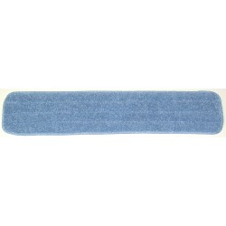 26in Wet Mop Pad - Blue - Rectangular - Sponge -  Piped -Hook and Loop Fastener