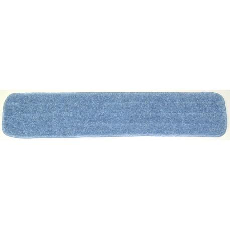 26in Wet Mop Pad - Blue - Rectangular - Sponge -  Piped -Hook and Loop Fastener